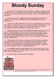 English Worksheets: BLOODY SUNDAY part 1