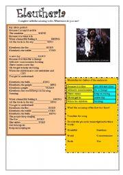 English Worksheet: ELEUTHERIA - LENNY KRAVITZ