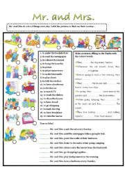 English Worksheets: Mr. and Mrs.