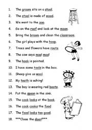 Worksheets Oo Worksheets english worksheet phonics