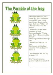 English Worksheet: the parable of the frog