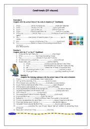 English Worksheet: If-Clauses