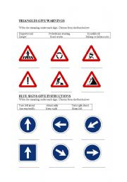 English Worksheets: The meaning of signs
