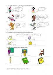 English Worksheets: 4thyear