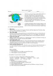 english worksheet reducing air pollution. Black Bedroom Furniture Sets. Home Design Ideas