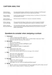 English teaching worksheets: Cartoons