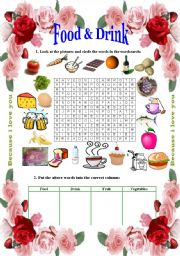 English Worksheet: Food and Drink - Like and Would like (2 pages)