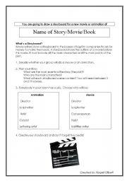 English Worksheets: Movie Storyboard