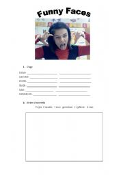 English Worksheets: Funny faces