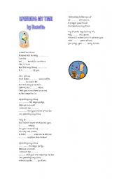 English Worksheet: Spending my time, by roxette