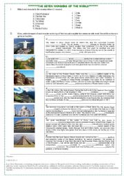 Seven wonders of the world essay
