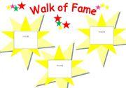 English Worksheet: Walk of Fame