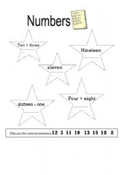 English Worksheets: Numbers writing