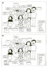 English Worksheet: Ann�s family