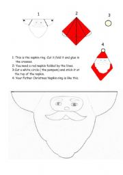 How to make a Father Christ,as Napkin Ring