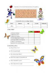 English Worksheets: Diana and Elisa