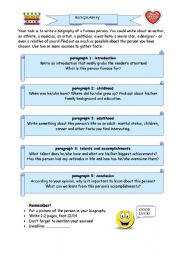 English Worksheets: Biography