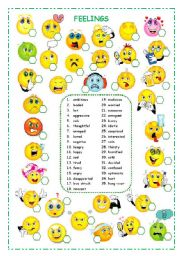 Feelings this is a nice worksheet which you can use with your students
