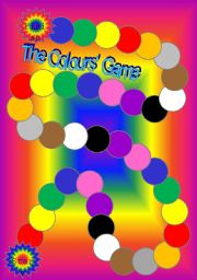 English Worksheets: Colours� board game
