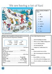 English Worksheet: WE ARE HAVING A LOT OF FUN!