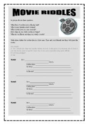 movie riddles esl worksheet by freddie. Black Bedroom Furniture Sets. Home Design Ideas