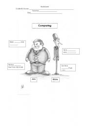 English Worksheets: comparing with tall and small