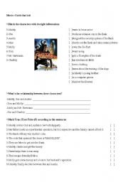 English Worksheets: Movie: Catch that kid