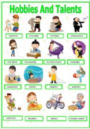 English Worksheets: Hobbies And Talents