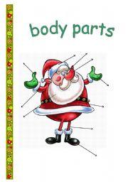 English Worksheets: Santa�s body parts