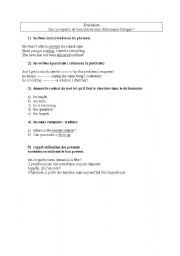 English Worksheets: how to use a dictionnary