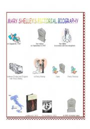 English Worksheet: mary shelley�s pictorial biography,  author of