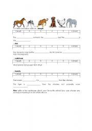 English Worksheet: Animal Comparison