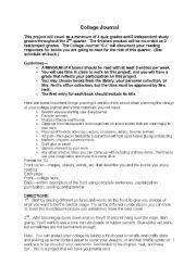 English Worksheets: Collage Journal