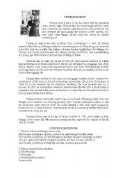 English worksheet: READING