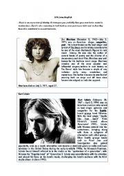 English Worksheets: myths of rock