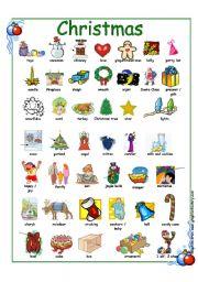 english worksheet christmas