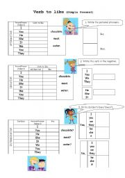 Verb to LIKE (Simple Present)