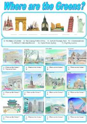 English Worksheets: Around the world  :  Wher are the Greens?