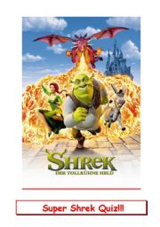 English Worksheet: Shrek Movie Quiz