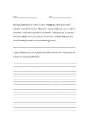 English Worksheets: Overuse of went