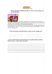 English Worksheets: Yesterday I ...