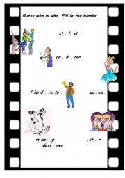 English Worksheets: Making a film