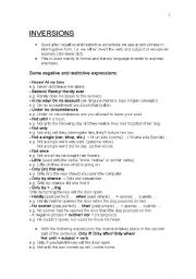 English Worksheets: Emphatic Inversions