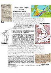 English Worksheet: THE HISTORY OF THE ENGLISH LANGUAGE - ANGLO-SAXON ENGLAND