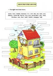 English Worksheets: Around the house vocabulary