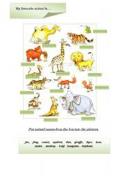 English Worksheets: Animals part 1