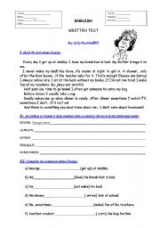 English Worksheets: George�s daily Routine
