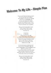 English Worksheet: Simple Plan - Welcome To My Life