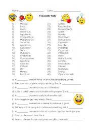 Personality traits (40)