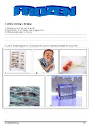 English Worksheets: Song Activity - Frozen - Madonna